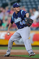 Paul Clemens (44) of the Corpus Christi Hooks throws agains the Springfield Cardinals at Hammons Field on August 19, 2012 in Springfield, Missouri.(Dennis Hubbard/Four Seam Images)