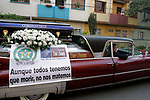 A Hearse show a campaign advising citizens for staying home