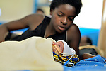 A mother and her newborn in the neonatal department at Kibuye Hospital, Karongi District, Western Rwanda ..