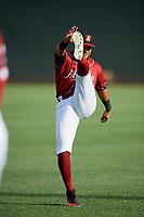 Altoona Curve center fielder Jason Martin (23) warms up before a game against the Richmond Flying Squirrels on May 15, 2018 at Peoples Natural Gas Field in Altoona, Pennsylvania.  Altoona defeated Richmond 5-1.  (Mike Janes/Four Seam Images)