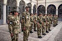 Turate, provincia di Como, presso la Casa dei Veterani di Guerra Umberto 1, il secondo corso di Studenti con le Stellette.