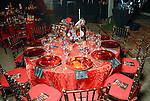 One of the decorated tables at the Houston Grand Opera's Opening Night dinner Friday Oct. 23,2009. (Dave Rossman/For the Chronicle)