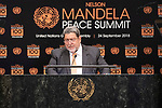 Opening Plenary Meeting of the Nelson Mandela Peace Summit<br /> <br /> <br /> His Excellency Ralph GONSALVESPrime Minister, Minister for Finance, the Public Service,National Security, Legal Affairs and Grenadines Affairs ofSaint Vincent and the Grenadines