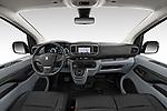 Stock photo of straight dashboard view of 2020 Peugeot e-Expert FT-Premium 5 Door Cargo Van Dashboard