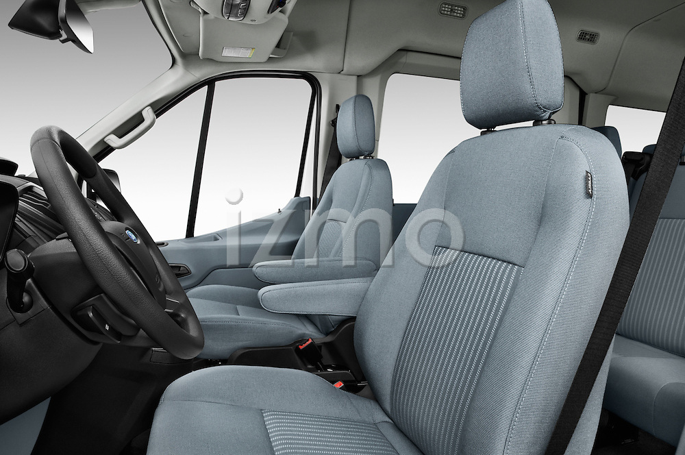 Front seat view of 2016 Ford Transit 350-XLT-Med-Roof 4 Door Passenger Van Front Seat  car photos