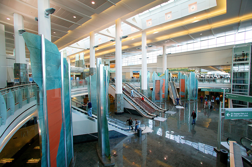 Inside the new (2004) terminal at the Ted Stevens Anchorage International Airport, Anchorage, Alaska