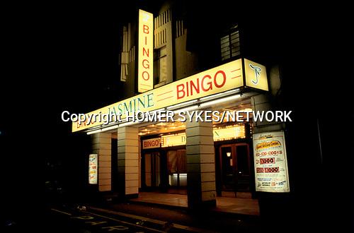 Bingo UK  The Jasmine Bingo Club exterior. north London. 1990s 90s