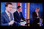 The First Television Election Debate Nick Clegg David Cameron   Gordon Brown April 15th 2010.