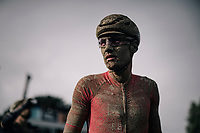 Silvan Dillier's (SUI/Alpecin-Fenix) post-race face<br /> <br /> 118th Paris-Roubaix 2021 (1.UWT)<br /> One day race from Compiègne to Roubaix (FRA) (257.7km)<br /> <br /> ©kramon