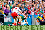 Paul Murphy, Kerry in action against Peter Harte, Tyrone during the All Ireland Senior Football Semi Final between Kerry and Tyrone at Croke Park, Dublin on Sunday.