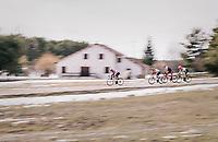 Lars Bak (DEN/Lotto-Soudal) speeding ahead<br /> <br /> 76th Paris-Nice 2018<br /> stage 6: Sisteron > Vence (198km)