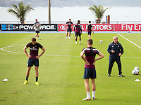 Steven Gerrard of England trains separately away from the majority of the squad