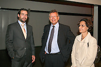 19-9-07, Netherlands, Rotterdam, Daviscup NL-Portugal, Raemon Sluiter en Hans den Oudendammer met zijn echtgenote