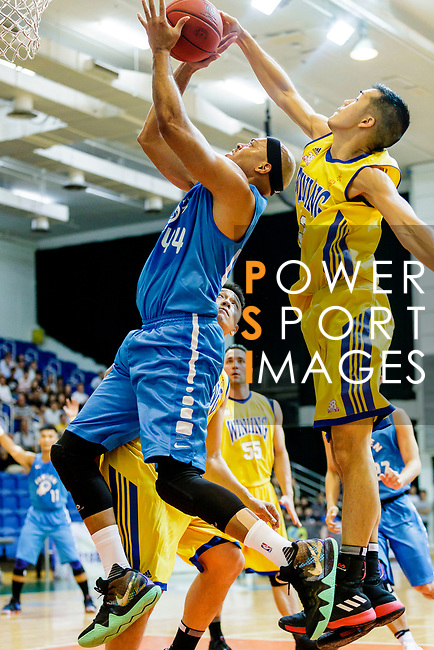 Wills Wallace #44 of Fukien Basketball Team tries to score during the Hong Kong Basketball League game between Winling and Fukien at Southorn Stadium on May 29, 2018 in Hong Kong. Photo by Yu Chun Christopher Wong / Power Sport Images