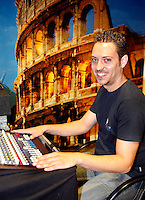 19-9-07, Netherlands, Rotterdam, Daviscup NL-Portugal, N.f.g.d. official supplier audio-visual KNLTB