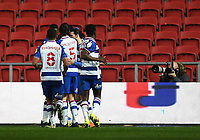 16th February 2021; Ashton Gate Stadium, Bristol, England; English Football League Championship Football, Bristol City versus Reading; Lucas Joao of Reading celebrates with his team after scoring in the 41st minute 0-1
