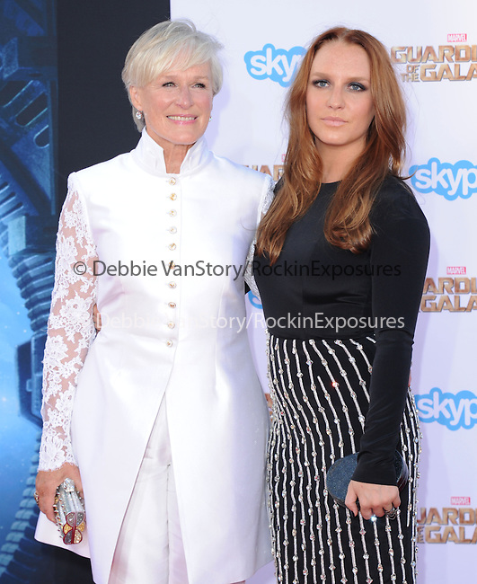 Glenn Close and Annie Maude Starke<br /> <br /> <br />  attends The Marvel Studios World Premiere GUARDIANS OF THE GALAXY held at The Dolby Theatre in Hollywood, California on July 21,2014                                                                               © 2014Hollywood Press Agency