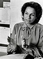 1984 FILE PHOTO - ARCHIVES -<br /> <br /> 1984 FILE -<br /> <br /> Anne Cools ,<br />  Canada's first black senator<br /> <br /> PHOTO : Bull, Ron<br /> <br /> PHOTO : Ron BULL - Toronto Star Archives - AQP