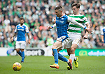 Celtic v St Johnstone …26.08.17… Celtic Park… SPFL<br />Michael O'Halloran and Kieran Tierney<br />Picture by Graeme Hart.<br />Copyright Perthshire Picture Agency<br />Tel: 01738 623350  Mobile: 07990 594431