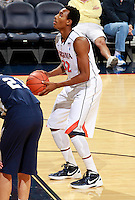 CHARLOTTESVILLE, VA- December 3: Darion Atkins #32 of the Virginia Cavaliers prepares to shoot during the game on December 27, 2011 against the Longwood Lancers at the John Paul Jones Arena in Charlottesville, Virginia. Virginia defeated Longwood 86-53. (Photo by Andrew Shurtleff/Getty Images) *** Local Caption *** Darion Atkins