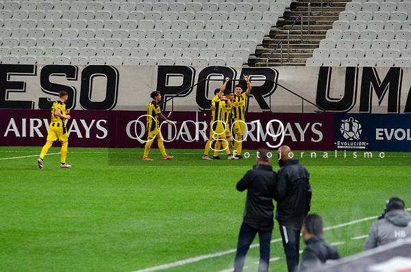 São Paulo (SP), 29/04/2021 - CORINTHIANS-PEÑAROL - Terans, do Peñarol comemora o gol. Corinthians e Peñarol partida válida pela 2ª rodada da Sul-Americana 2021, na Neo Química Arena, nesta quinta-feira (29).