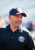Oct 14, 2019; Concord, NC, USA; NHRA top fuel driver Mike Salinas during the Carolina Nationals at zMax Dragway. Mandatory Credit: Mark J. Rebilas-USA TODAY Sports