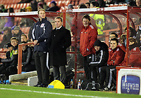 Pictured L-R: Swansea manager Brendan Rodgers with assistant Colin Pascoe. Saturday 07 January 2012<br /> Re: FA Cup football Barnsley FC v Swansea City FC at the Oakwell Stadium, south Yorkshire.