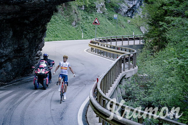 Luis León Sánchez (ESP/Astana - Premier Tech) up the Passo di San Valentino (cat.1)<br /> <br /> 104th Giro d'Italia 2021 (2.UWT)<br /> Stage 17 from Canazei to Sega di Ala (193km)<br /> <br /> ©kramon