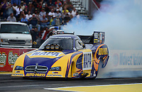 Sept. 28, 2012; Madison, IL, USA: NHRA funny car driver Ron Capps during qualifying for the Midwest Nationals at Gateway Motorsports Park. Mandatory Credit: Mark J. Rebilas-