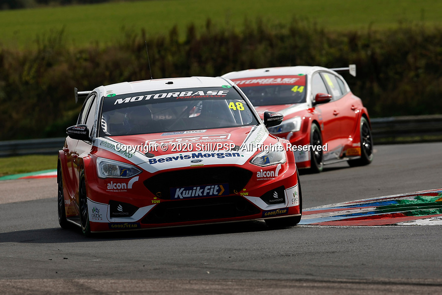 Round 5 of the 2020 British Touring Car Championship. #48 Ollie Jackson. Motorbase Performance. Ford Focus ST.