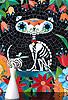 *SPECIAL EDITION* Gato de los Muertos by Cean Irminger, using various shades of jewel glass.