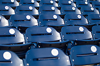 TD Ameritrade Park seats before Game 7 of the NCAA College World Series against the Auburn Tigers on June 18, 2019 in Omaha, Nebraska. Louisville defeated Auburn 5-3. (Andrew Woolley/Four Seam Images)