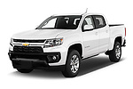 2021 Chevrolet Colorado LT 4 Door Pick-up Angular Front automotive stock photos of front three quarter view