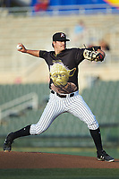 Kannapolis Intimidators starting pitcher Blake Battenfield (24) in action against the Hagerstown Suns at Kannapolis Intimidators Stadium on May 4, 2018 in Kannapolis, North Carolina.  The Intimidators defeated the Suns 11-0.  (Brian Westerholt/Four Seam Images)