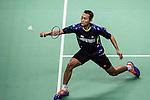 Sony Dwi Kuncoro of Indonesia competes against Hu Yun of Hong Kong during the 2016 Hong Kong Open Badminton Championships at the Hong Kong Coliseum on November 25, 2016 in Hong Kong, China. Photo by Marcio Rodrigo Machado / Power Sport Images