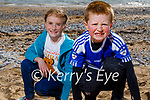 Enjoying the beach in Fenit on Saturday, l to r: Saoirse Reen and Jack Buckley from the Spa.
