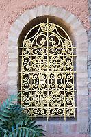 Window inside Riad Alili, Marrakech, Morocco