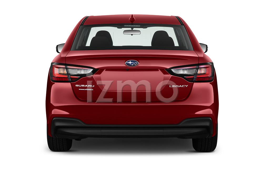 Straight rear view of 2020 Subaru Legacy Premium 4 Door Sedan Rear View  stock images