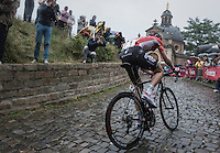 #1 rider Tim Wellens (BEL/Lotto-Soudal) up the infamous  Kapelmuur<br /> <br /> 12th Eneco Tour 2016 (UCI World Tour)<br /> Stage 7: Bornem › Geraardsbergen (198km)