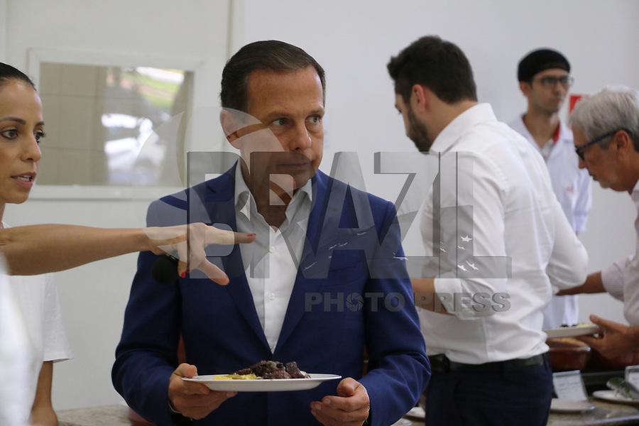 SÃO PAULO, SP, 02.02.2019: POLÍTICA-SP: João Doria, Governador de São Paulo, almoça com secretários, no restaurante dos funcionários do Palácio dos Bandeirantes, neste sábado, 2. ( Foto: Charles Sholl/Brazil Photo Press)