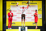 Michael Schar (SUI) AG2R Citroen Team wins the days combativity prize at the end of Stage 3 of the 2021 Tour de France, running 182.9km from Lorient to Pontivy, France. 28th June 2021.  <br /> Picture: A.S.O./Pauline Ballet | Cyclefile<br /> <br /> All photos usage must carry mandatory copyright credit (© Cyclefile | A.S.O./Pauline Ballet)