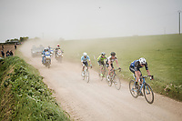 breakaway group racing over the Breton gravel roads<br /> <br /> 36th TRO BRO LEON 2019 (FRA)<br /> One day race from Plouguerneau to Lannilis (205km)<br /> <br /> ©kramon