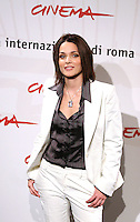 """Actress Laura Chiatti poses for photographers during the photocall of the film """"A casa nostra"""" at the International Film Festival in Rome. October, 20, 2006.<br /> Roma, 20/10/2006 L'attrice Laura Chiatti posa per i fotografi durante il photocall del film """"A casa nostra"""".<br /> Foto Samantha Zucchi INSIDE (www.insidefoto.com)"""