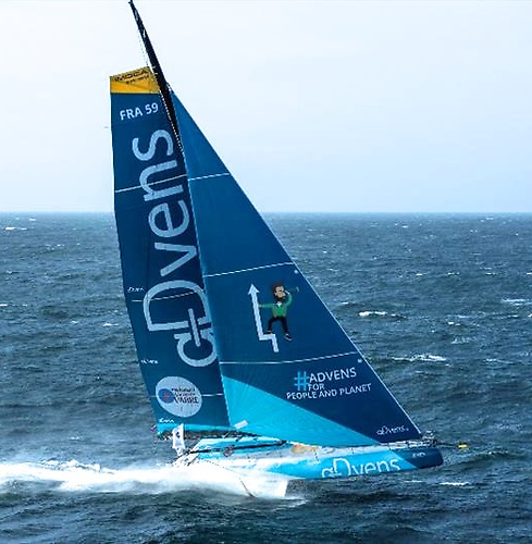 Maiden sail, with initial prime slot given to key sponsors Advens
