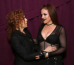"""Bernadette Peters and Jennifer Simard backstage after """"Stigma"""" on September 9, 2018 at the Green Room 42 in New York City."""