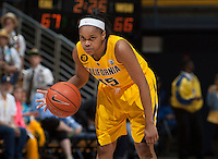 Brittany Boyd of California in action during the game against Washington State at Haas Pavilion in Berkeley, California on February 27th, 2014.   California defeated Washington State, 75-68.