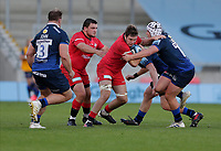 9th September 2020; AJ Bell Stadium, Salford, Lancashire, England; English Premiership Rugby, Sale Sharks versus Saracens;  Sean Reffell of Saracens  is tackled by Curtis Langdon of Sale Sharks