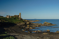Dunure Castle and Ailsa Craig from Dunure, Ayrshire<br /> <br /> Copyright www.scottishhorizons.co.uk/Keith Fergus 2011 All Rights Reserved