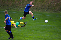 Jorge Akers in action during the Central League football match between Miramar Rangers and Lower Hutt AFC at David Farrington Park in Wellington, New Zealand on Saturday, 10 April 2021. Photo: Dave Lintott / lintottphoto.co.nz