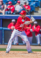28 February 2016: Washington Nationals infielder Stephen Drew in action during an inter-squad pre-season Spring Training game at Space Coast Stadium in Viera, Florida. Mandatory Credit: Ed Wolfstein Photo *** RAW (NEF) Image File Available ***